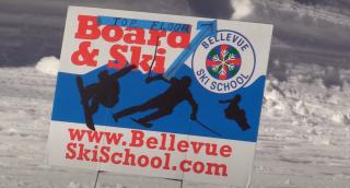 photo of Bellevue Ski School sign